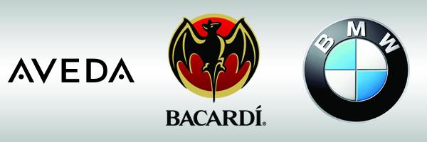 Aveda, Bacardi, BMW