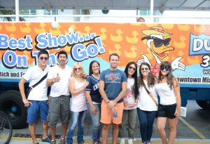 Students at the Duck tours in Miami