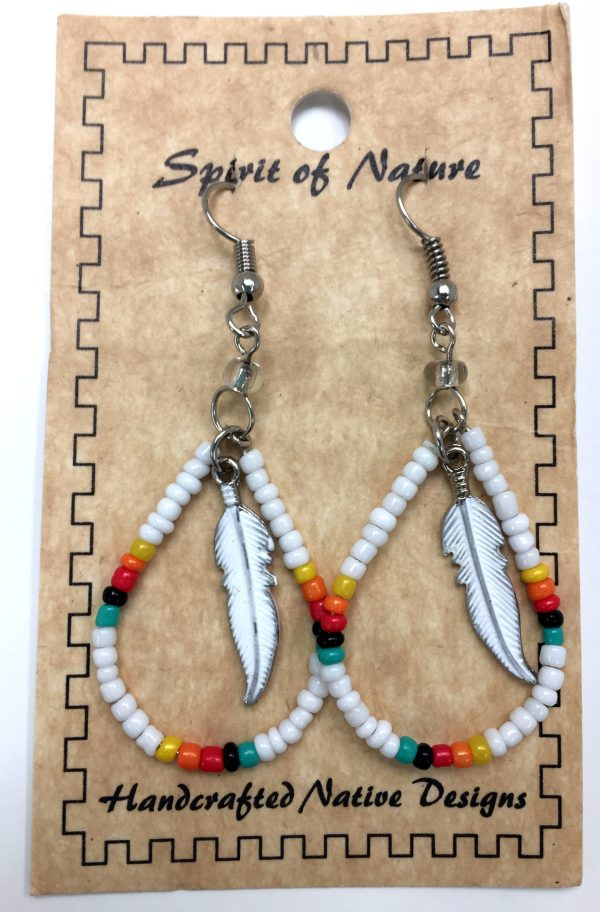 Spirit of Nature Handcrafted Native Designs Beaded Earrings