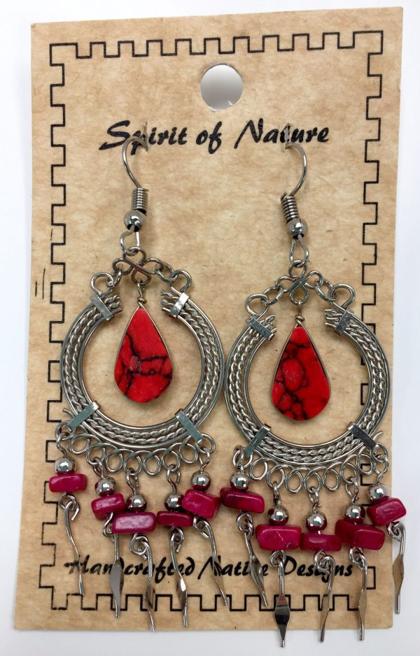 Spirit of Nature Handcrafted Native Design Earrings