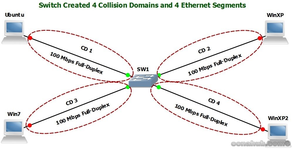 Using Switch to Create Sperate Collision Domains