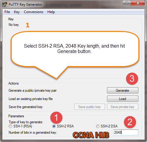 Creating SSH-Keys using Putty Keys Generator