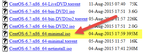Install CentOS Linux OS Minimal Server