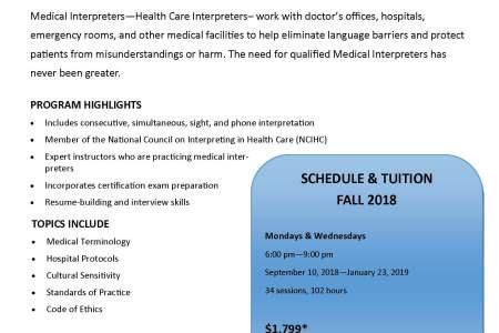 healthcare medical interpreter training certification program » Free ...