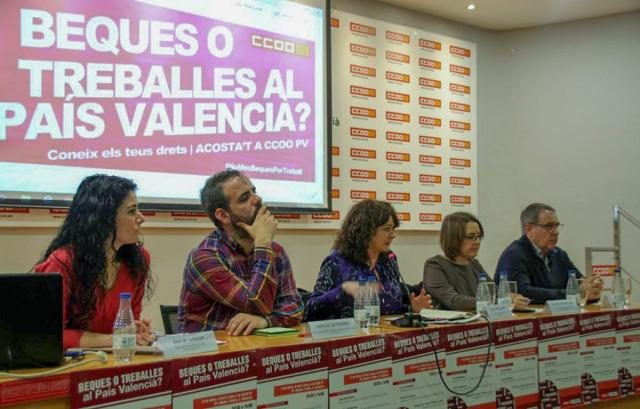CCOO celebra una Jornada en el País Valenciano para presentar la campaña contra el fraude en la realización de prácticas