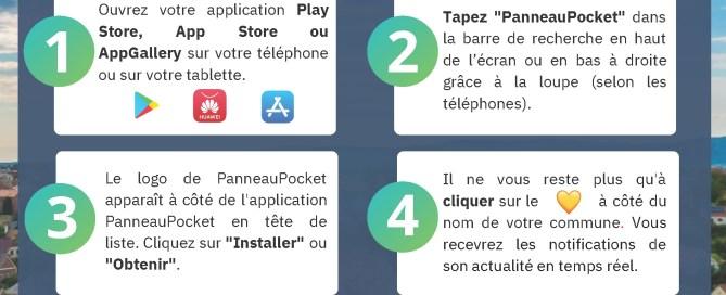 PanneauPocket téléchargez l'application pour suivre les actus de Charny Orée de Puisaye