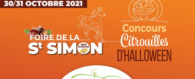 Concours de citrouilles d'Halloween de la Foire de la St Simon à Charny Orée de Puisaye