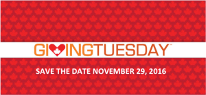 Giving Tuesday, save the date text.