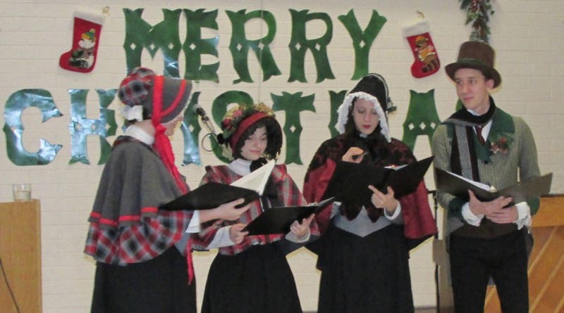 Oak Bay News - alumni carolers