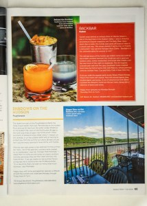 Cocktail and bartender photographs from Back Bar in Hudson, NY by Caylena Cahill published in Hudson Valley Magazine, July 2018