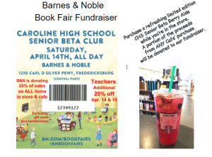 CHS Sr Beta Barnes & Noble Book Fair Flyer