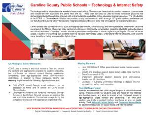 Internet Safety Parent Newsletter