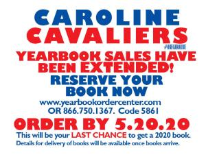 Yearbooks sales have been extended