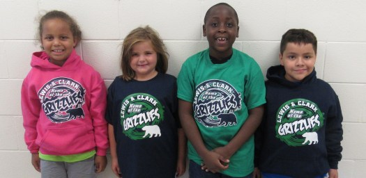 LCES Students wearing our School Spirit Wear