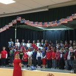 Second Grade students on stage