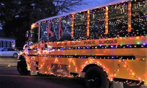 Picture of bus with lights