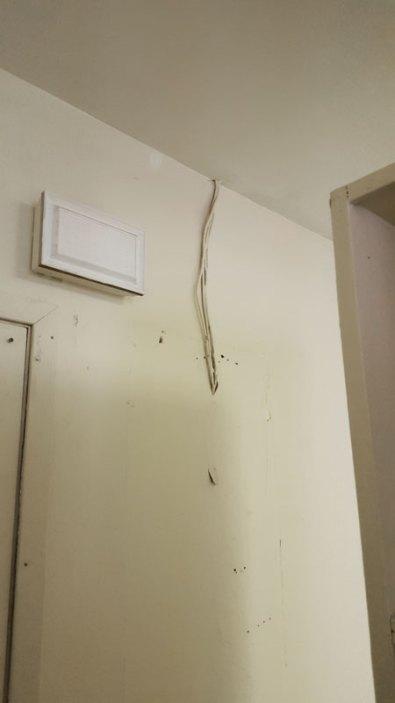 Bad, Dangerous Wiring before renovation