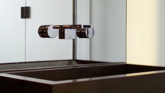 New, modern sink installation
