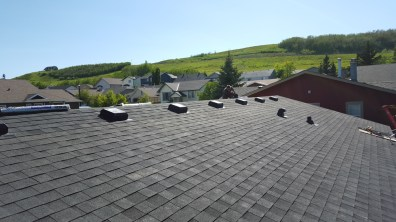 The new roof with proper venting and quality workmanship