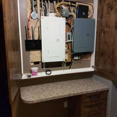 Electrical Panel Cabinet Opened