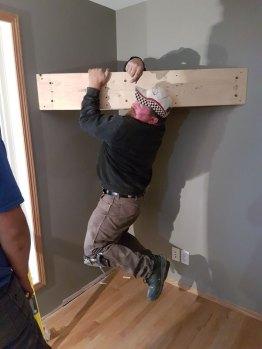 New TV brace installed