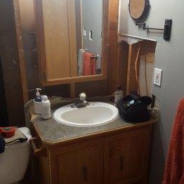Bathroom Vanity Before Renovation