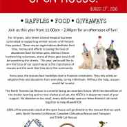 Join CCRT at the John Street Animal Hospital Open House – August 13, 2016