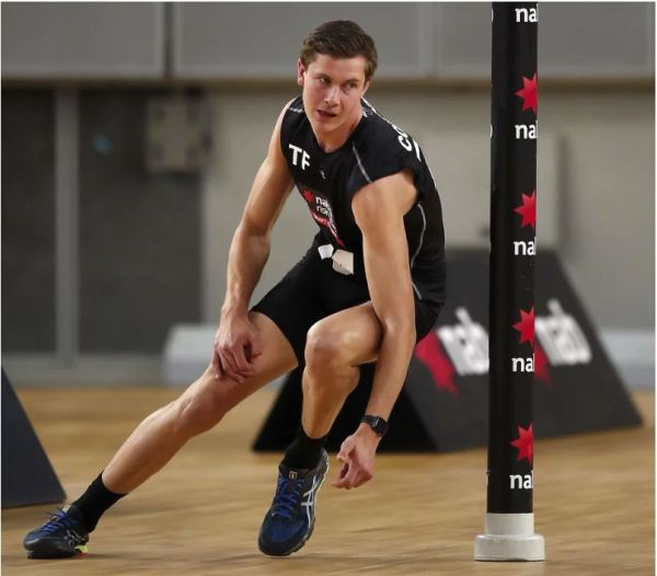 Charlie Comben at the Draft Combine