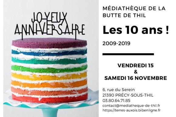 Les 10 ans de la Médiathèque de la butte de Thil !