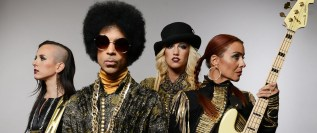 Prince with his most recent band, Third Eye Girl.