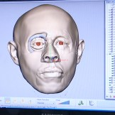Layers of muscle and facial structure reconstructed on 3D scan