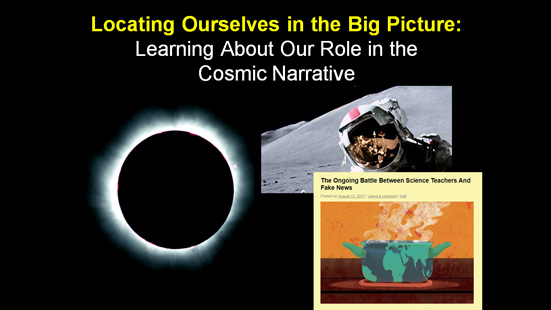 Locating Ourselves in the Big Picture: Learning About Our ...
