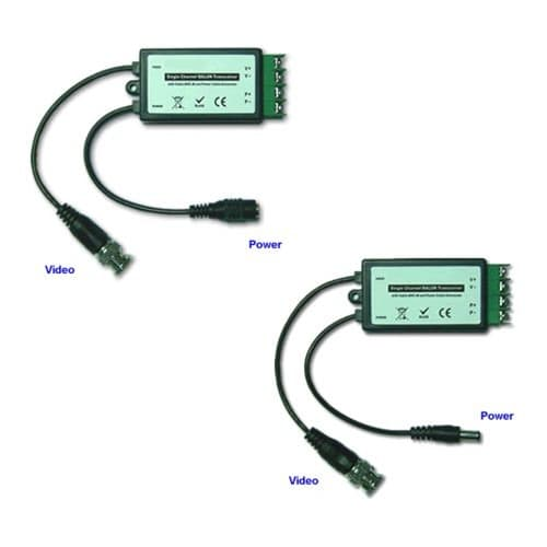 pv5fm cat5 balun utp balun video balun for cctv with camera power