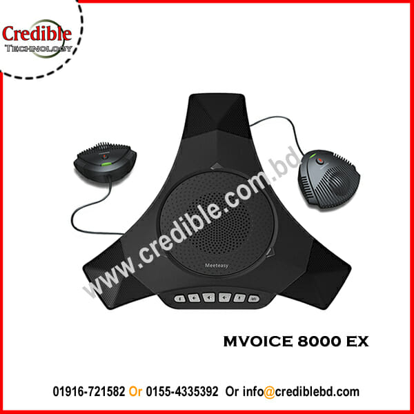 Zoom Meeting Speakerphone - Expandable Conference microphone MVOICE 8000 EX