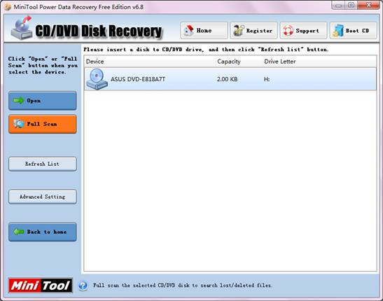 Recover lost files in CD1