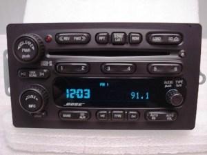 Chevrolet Buick Trailblazer Envoy OEM BOSE 6 CD Player
