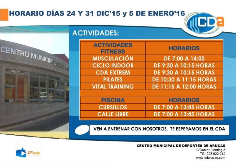 CARTEL actividades 24 Y 31 DE DIC'15 Y 5 ENERO'16