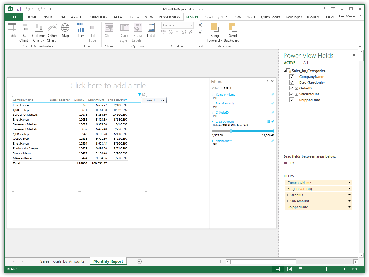Import And Visualize Csv Data In Power View