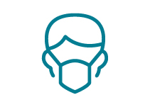 image of head wearing a face mask