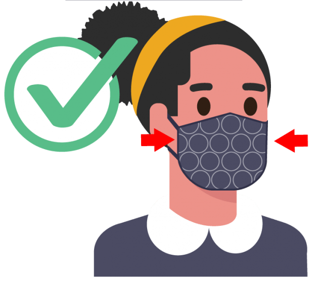 DO choose masks that fit snugly against the sides of your face and don't have gaps.
