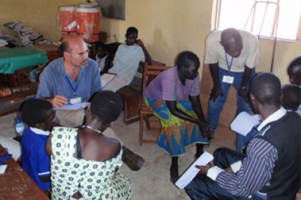 CDC scientist conducting consultation in South Sudan. Courtesy CDC.