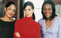 Grupo diverso de mujeres
