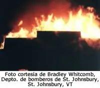 foto cortesia de Bradley Whitcomb, Depto de bomberos de St. Johnsbury, St. Johnsbury, VY