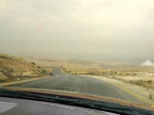 route vers la mer morte