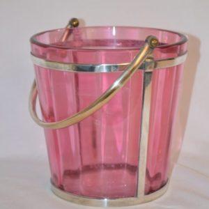 BACCARAT Seau a glace cristal rose