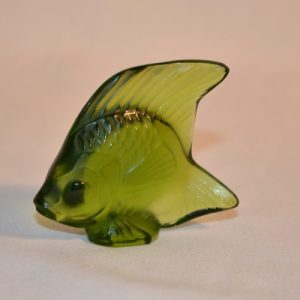 LALIQUE: Figurine Poisson vert
