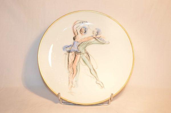 LE TALLEC PARIS: assiette en porcelaine d'après Jean Toth