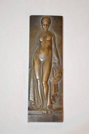 Pierre TURIN: Plaquette en bronze