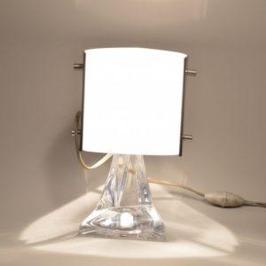 Lampe Daum France en cristal et plexiglas