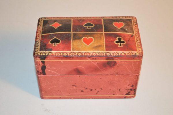 Boite de jeux de cartes ancien